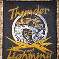 Thin Lizzy - Patch - Thin Lizzy - Thunder and Lightning Tour 83 Patch Golden Version