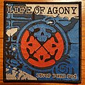 """Life Of Agony - Patch - Life Of Agony - """"River Runs Red"""" album cover art woven patches"""