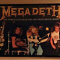 """Megadeth - Other Collectable - Megadeth - """"The World's State-Of-The-Art Speed Metal Band"""" promo poster"""