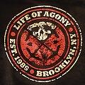 "Life Of Agony - Hooded Top - Life Of Agony - ""LOA""  zip hoodie w/ est. 1989 hardcore skull circle logo..."