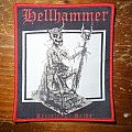 Hellhammer-Apocalyptic Raids red border woven