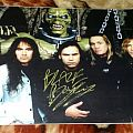 Iron Maiden-Ed Hunter Poster Signed By Blaze Bayley