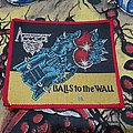 Accept - Patch - Accept - Balls To The Wall Red Border Patch 1983