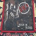 Slayer - Patch - Slayer - Reign In Blood Red Border Patch 1986