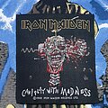 Iron Maiden - Patch - Iron Maiden - Can I Play With Madness BLACK Background UNFINISHED Patch 1988