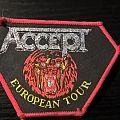 "Accept ""European Tour"" Patch Red Border"