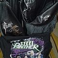 Fringed Motorcycle Leather Jacket, signed by Steel Panther