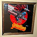 Judas Priest Defenders of the Faith original wood framed Mirror  1984 Other Collectable