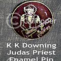 Vintage 70s KK Downing band pin Other Collectable