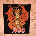 Dio sacred heart vintage back patch old stock 80's