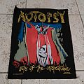 Autopsy acts of the unspeakable back patch vintage