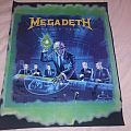 Megadeth rust in peace vintage back patch