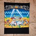 Helloween live in the U.K. vintage back patch