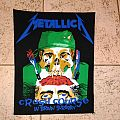 Metallica crash course in brain surgery vintage back patch 80's old stock