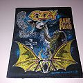 ozzy osbourne bark at the moon vintage woven patch