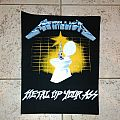 Metallica metal up your ass vintage back patch