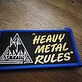 Def Leppard heavy metal rules  patch