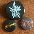 Bolt Thrower, Celtic Frost, Napalm Death vintage buttons Pin / Badge