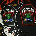 Obituary - Slowly We Rot coffin embroidered patch