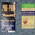Life Of Agony Tickets 1994 1996 + guitar pick