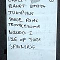 Skyclad - Other Collectable - Skyclad Setlists 1998 + 1999
