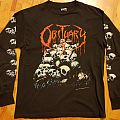 OBITUARY-pile of skulls, BlueGrape Merch. 1991, OG ls, XL. MURINAs tag TShirt or Longsleeve