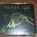 Paradise Lost-True Belief 97 Signed Tape / Vinyl / CD / Recording etc