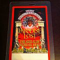 Paradise Lost-Monsters Of Rock Sao Paulo AAA Tour Pass