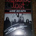 Paradise Lost-Live Death VHS Signed