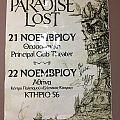 Paradise Lost-Promo Poster Athens Thessaloniki 2015