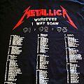 Metallica-Road Crew 91-92-93(Wherever I May Roam) TShirt or Longsleeve