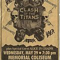 Clash Of The Titans - Megadeth Slayer Anthrax Alice In Chains Other Collectable