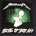 Metallica metal up your ass backpatch