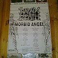 "old Napalm Death,Morbid Angel tour poster+7""s Tape / Vinyl / CD / Recording etc"