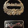 Girlschool metal badges  Pin / Badge