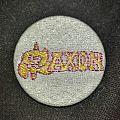 Saxon - Pin / Badge - Woven Saxon Button and Pin