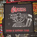 Saxon - Patch - Saxon - Demin and Leather Tour patch