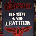 Saxon - Patch - Saxon Denim and Leather Backpatch