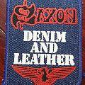 Saxon - Patch - Saxon - Denim and Leather, Denim Patch!