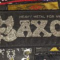 Saxon - Patch - Saxon -  Heavy Metal for Muthas Stripe