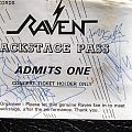 Autographed Backstage Pass Other Collectable