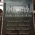 Immolation 2016 Australian Tour Poster Other Collectable
