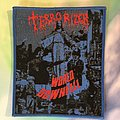 "Terrorizer - Patch - Terrorizer ""World Downfall"" Blue boarder"