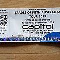 australian show ticket