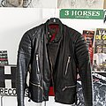 Vintage 80s biker leather jacket