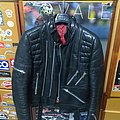 Real 80s Black Patina Leather Jacket Hein Gericke Style, S 44/46
