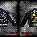 Handpainted Thrash/Punk  male leather battle Jacket made by Oldschool Crew
