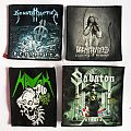 4 Handpainted small patches - Havok , Sabaton, Decapitated , Sonata Arctica made by Oldschool Crew