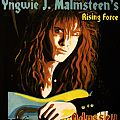 Handpainted back patch - Yngwie Malmsteen  made by Oldschool Crew