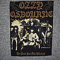 Ozzy Osbourne - Patch - Ozzy Osbourne ‎– No Rest For The Wicked